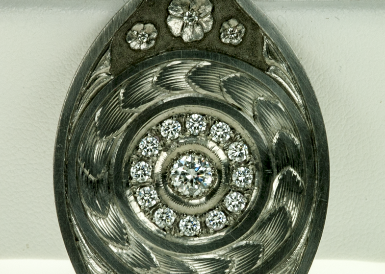 Sculpted Pendant with Stone