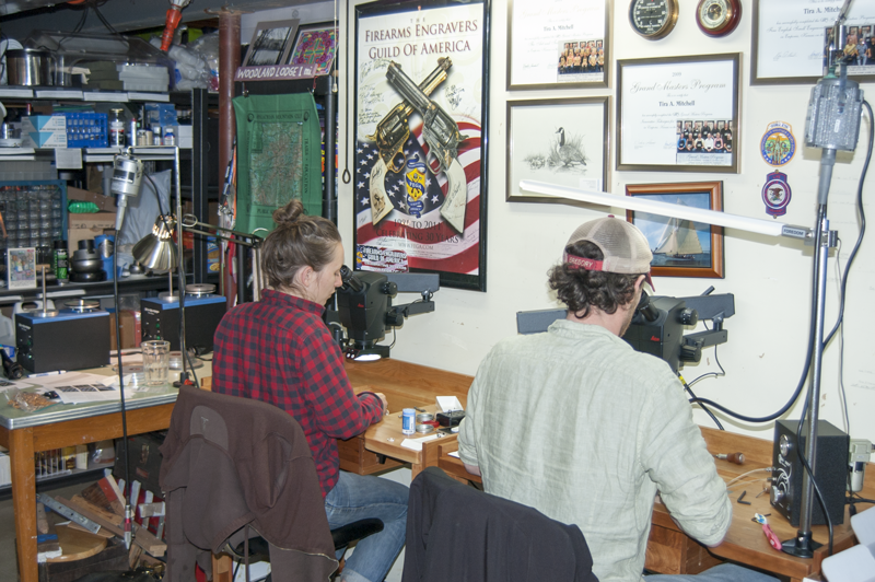 Students at Precision Bench Studio